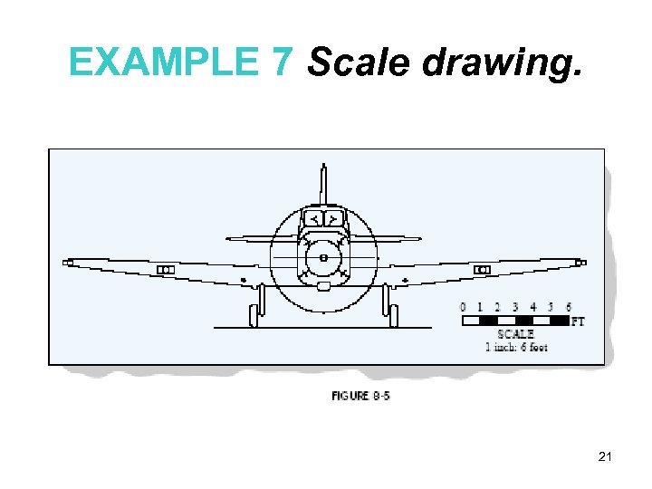 EXAMPLE 7 Scale drawing. 21