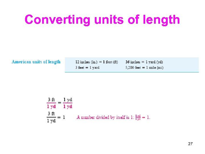 Converting units of length 27