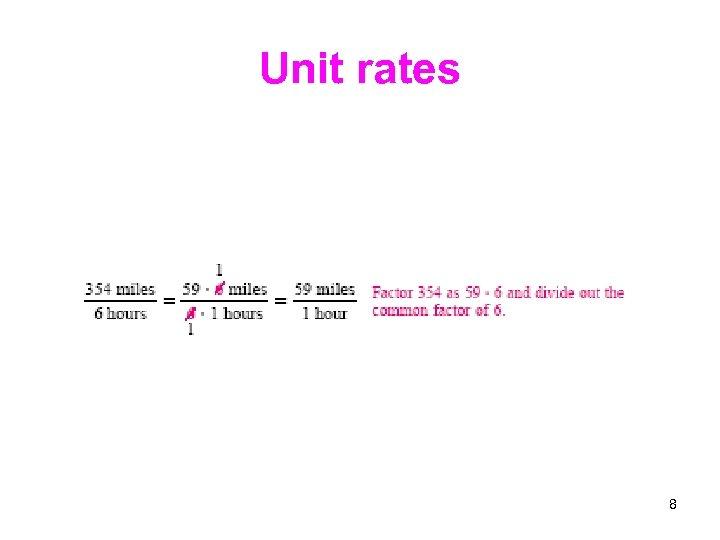 Unit rates 8