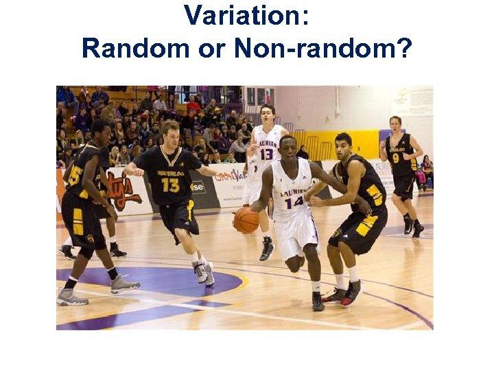 Variation: Random or Non-random?