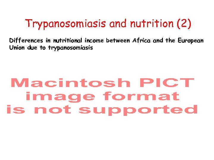 Trypanosomiasis and nutrition (2) Differences in nutritional income between Africa and the European Union