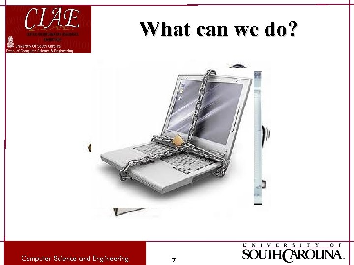 What can we do? Computer Science and Engineering 7