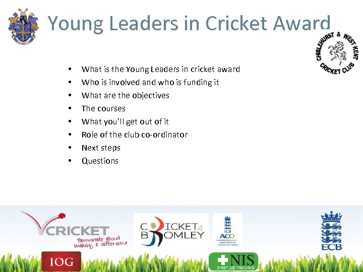 Young Leaders in Cricket Award • • What is the Young Leaders in cricket