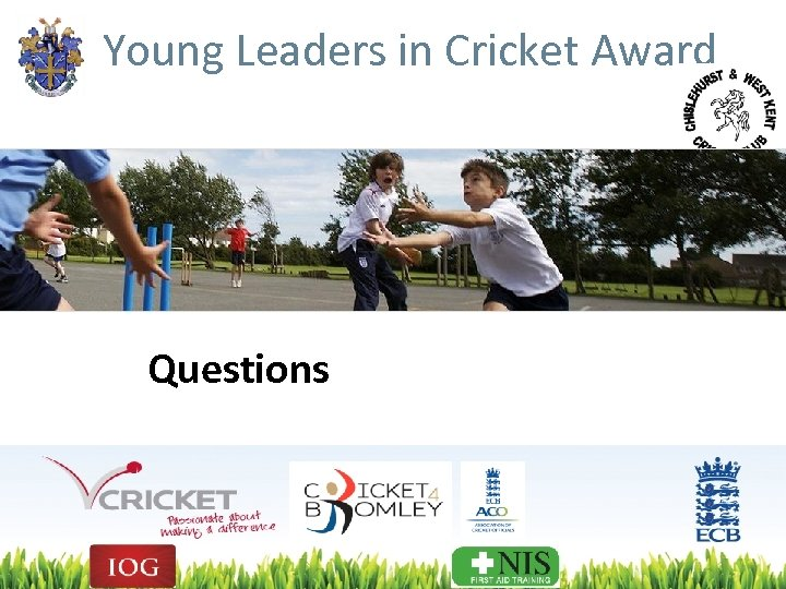 Young Leaders in Cricket Award Questions