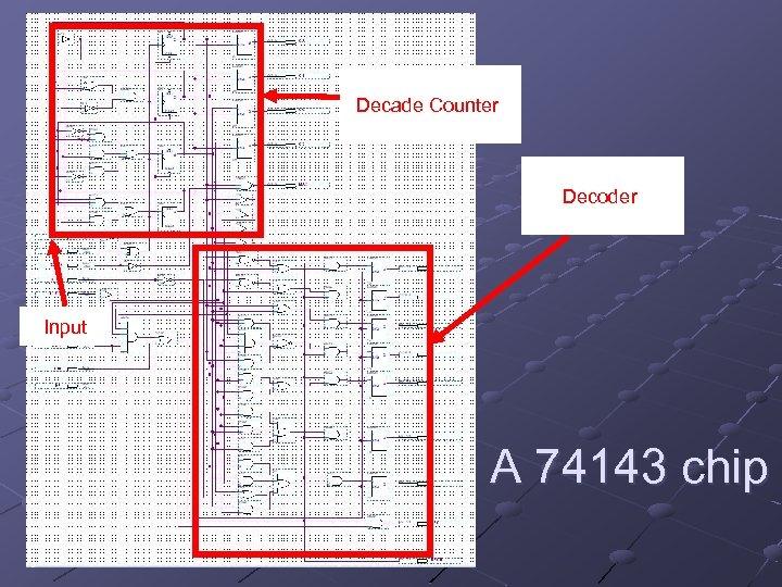 Decade Counter Decoder Input A 74143 chip