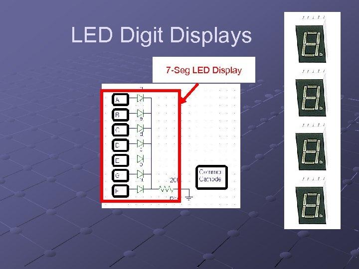 LED Digit Displays 7 -Seg LED Display