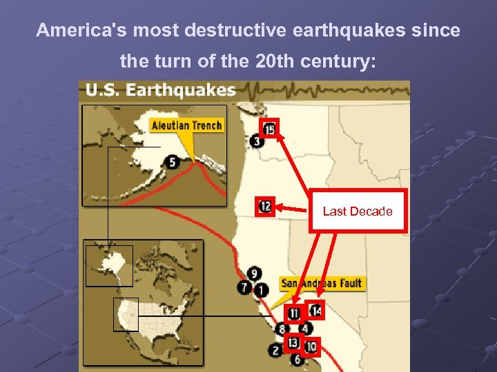 America's most destructive earthquakes since the turn of the 20 th century: Last Decade