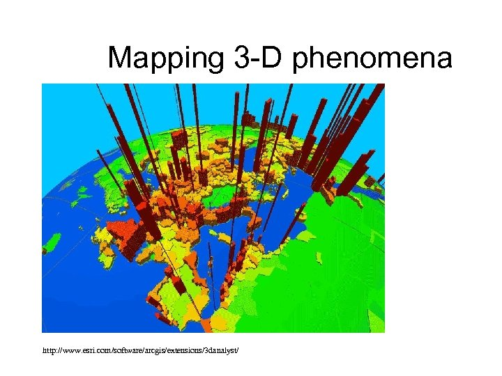 Mapping 3 -D phenomena http: //www. esri. com/software/arcgis/extensions/3 danalyst/