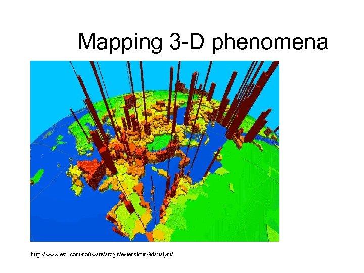 Mapping 3 -D phenomena http: //www. esri. com/software/arcgis/extensions/3 danalyst/