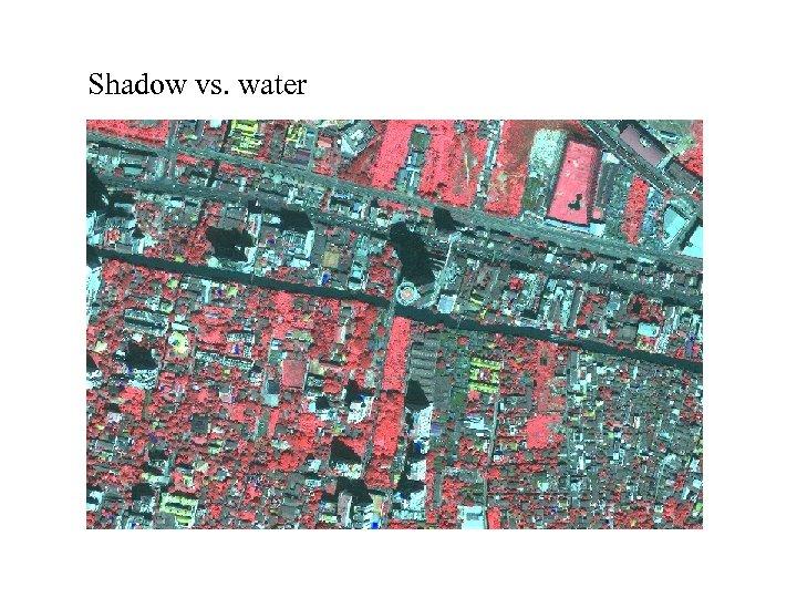 Shadow vs. water