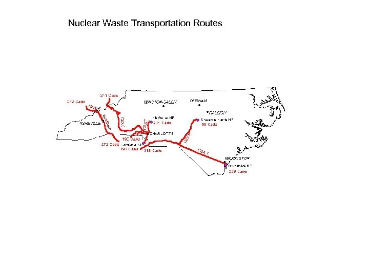 Nuclear Waste Transportation Routes