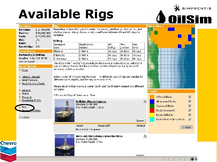 Available Rigs
