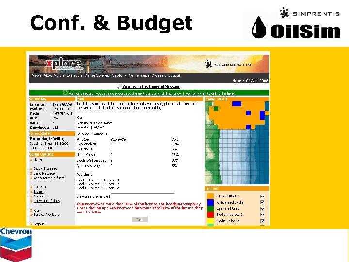 Conf. & Budget