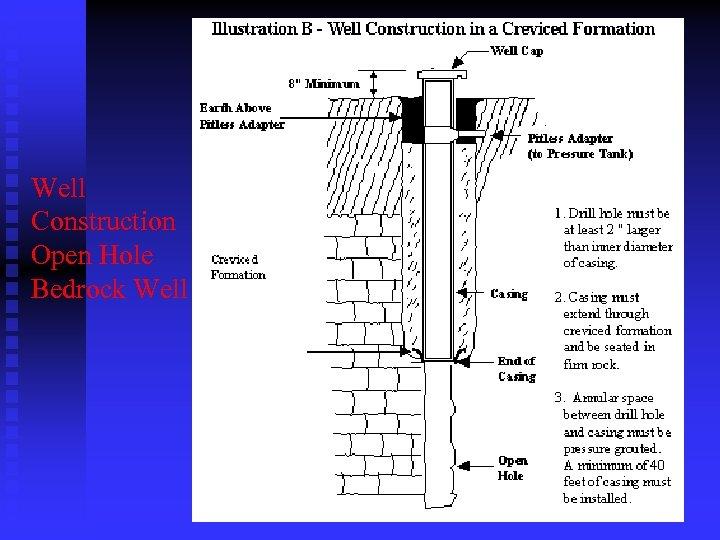 Well Construction Open Hole Bedrock Well