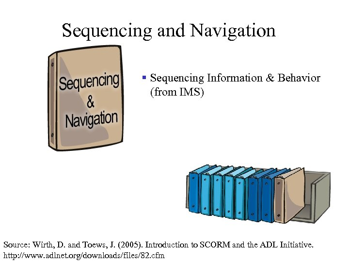 Sequencing and Navigation § Sequencing Information & Behavior (from IMS) Source: Wirth, D. and