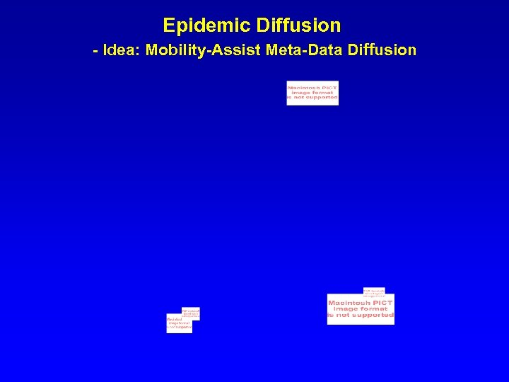 Epidemic Diffusion - Idea: Mobility-Assist Meta-Data Diffusion