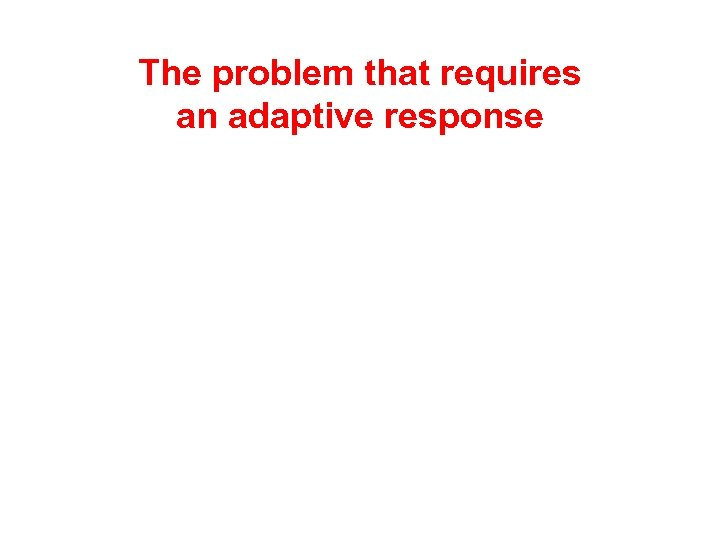 The problem that requires an adaptive response