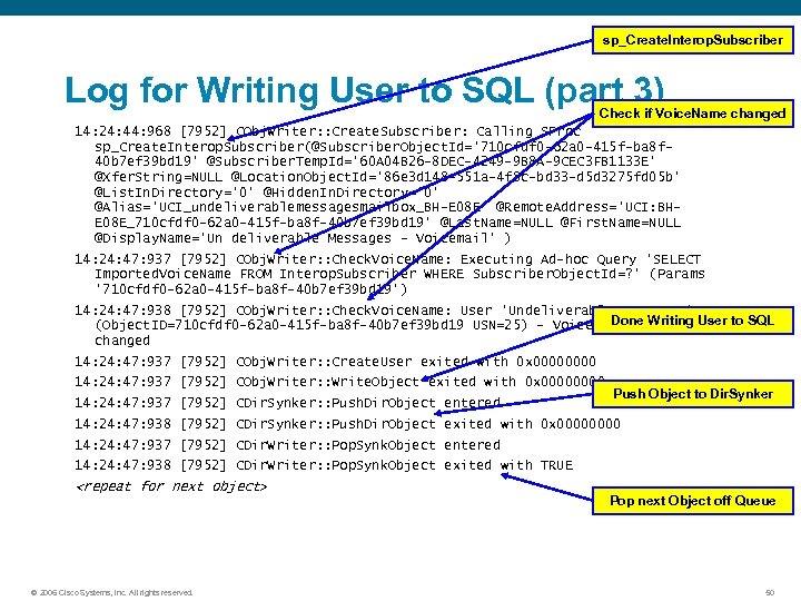 sp_Create. Interop. Subscriber Log for Writing User to SQL (part 3) Check if Voice.