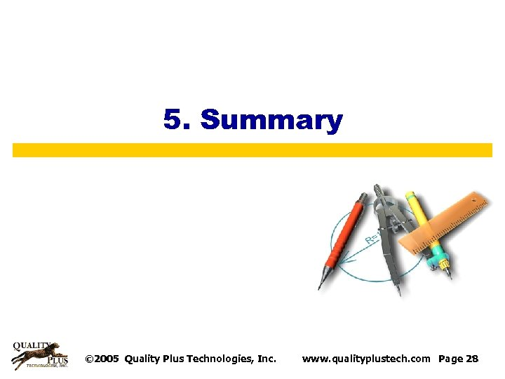 5. Summary © 2005 Quality Plus Technologies, Inc. www. qualityplustech. com Page 28