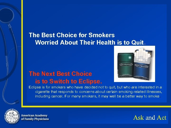 The Best Choice for Smokers Worried About Their Health is to Quit. The Next