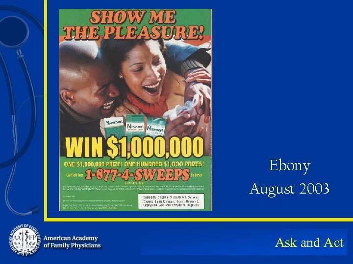 Ebony August 2003 Ask and Act