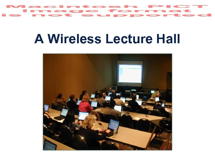 A Wireless Lecture Hall