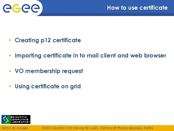 How to use certificate • Creating p 12 certificate • Importing certificate in to