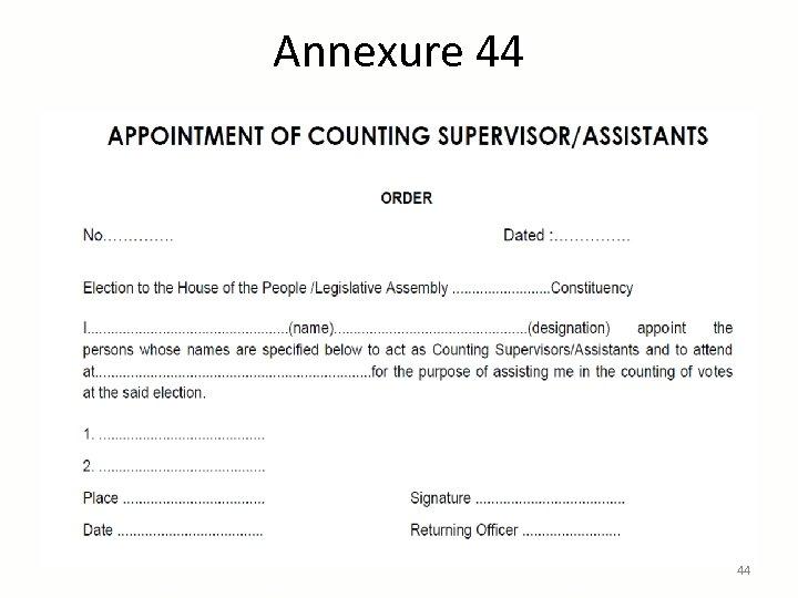 Annexure 44 44