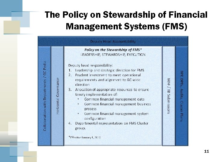 The Policy on Stewardship of Financial Management Systems (FMS) 11