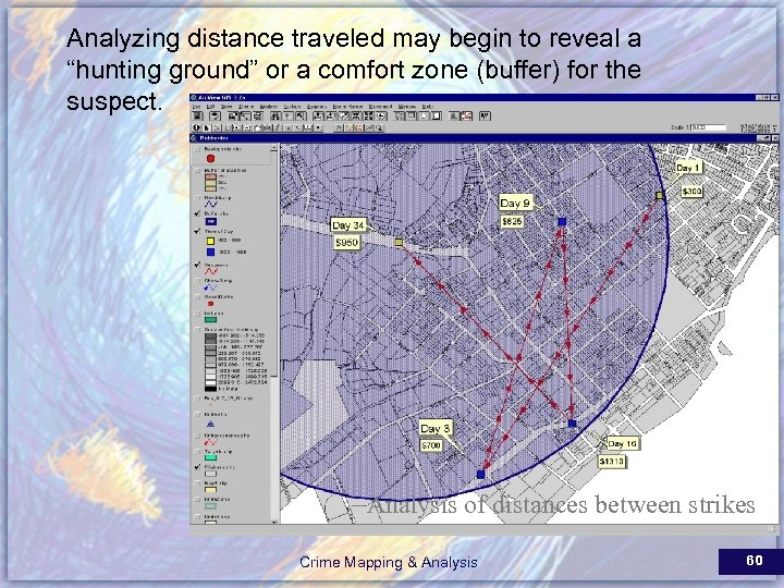 """Analyzing distance traveled may begin to reveal a """"hunting ground"""" or a comfort zone"""