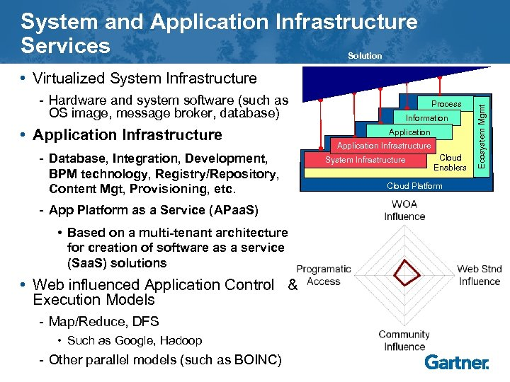 System and Application Infrastructure Services Solution - Hardware and system software (such as OS
