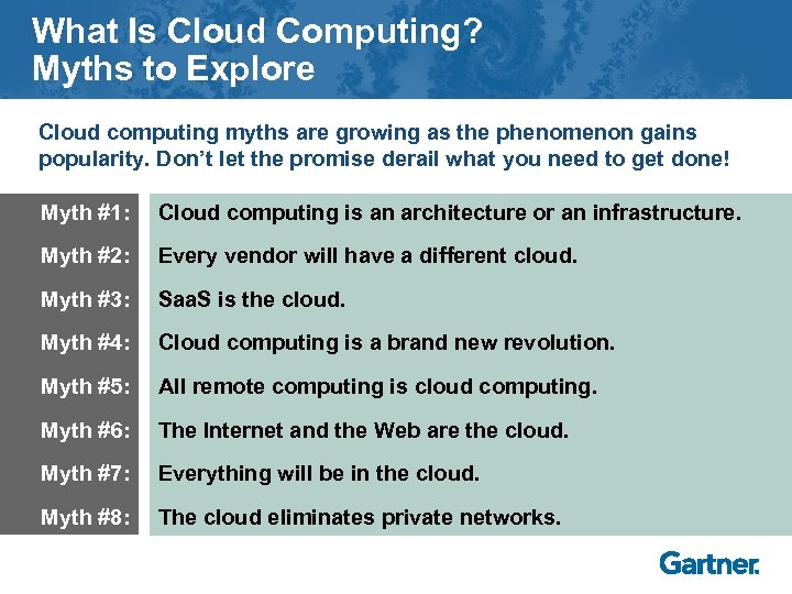 What Is Cloud Computing? Myths to Explore Cloud computing myths are growing as the