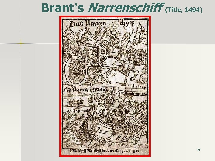 Brant's Narrenschiff (Title, 1494) 24