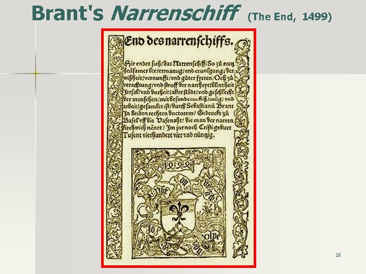 Brant's Narrenschiff (The End, 1499) 28