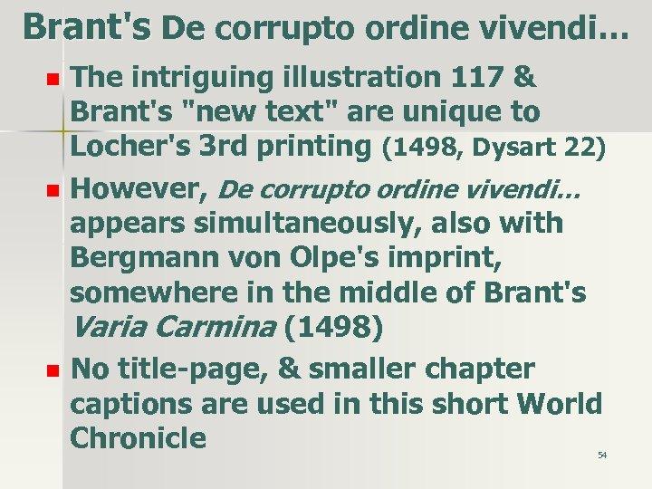 Brant's De corrupto ordine vivendi… n n n The intriguing illustration 117 & Brant's