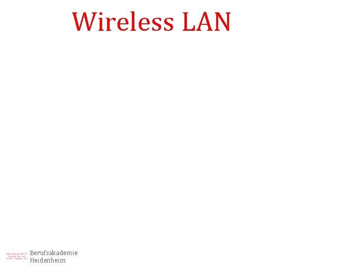 Wireless LAN Berufsakademie Heidenheim