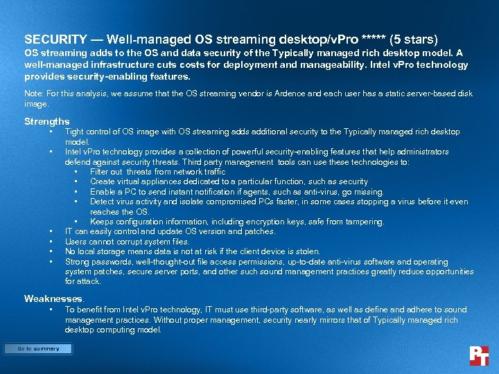 SECURITY — Well-managed OS streaming desktop/v. Pro ***** (5 stars) OS streaming adds to