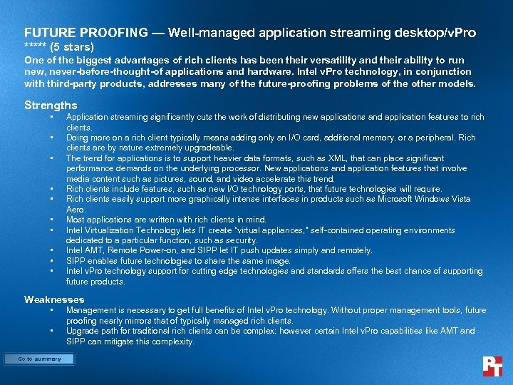 FUTURE PROOFING — Well-managed application streaming desktop/v. Pro ***** (5 stars) One of the