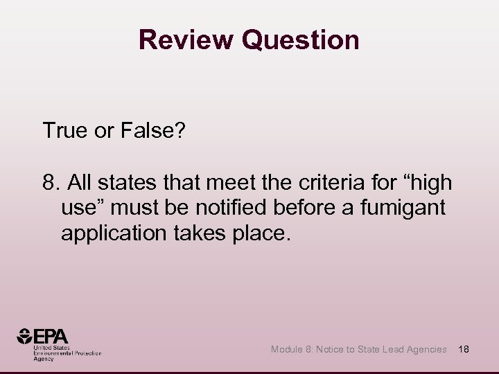 """Review Question True or False? 8. All states that meet the criteria for """"high"""