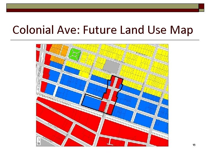 Colonial Ave: Future Land Use Map 16