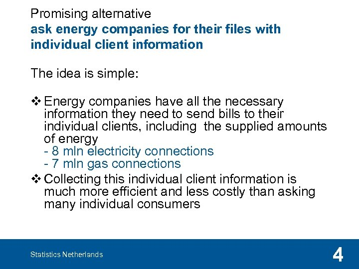 Promising alternative ask energy companies for their files with individual client information The idea