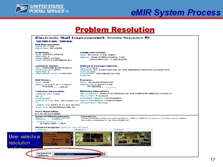 e. MIR System Process Problem Resolution ANY PERIODICALS TITLE ANY MAILER ANY PREPARER User
