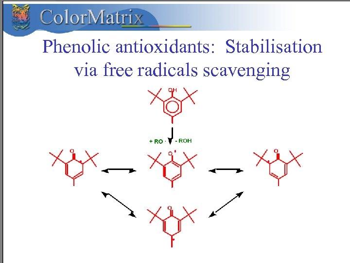 Phenolic antioxidants: Stabilisation via free radicals scavenging