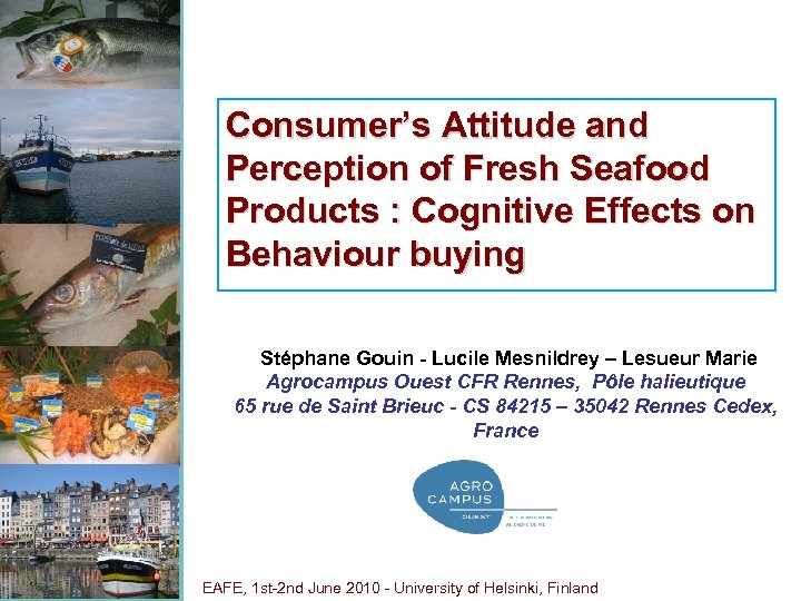 Consumer's Attitude and Perception of Fresh Seafood Products : Cognitive Effects on Behaviour buying