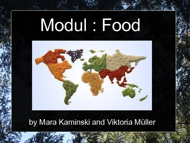 Modul : Food by Mara Kaminski and Viktoria Müller