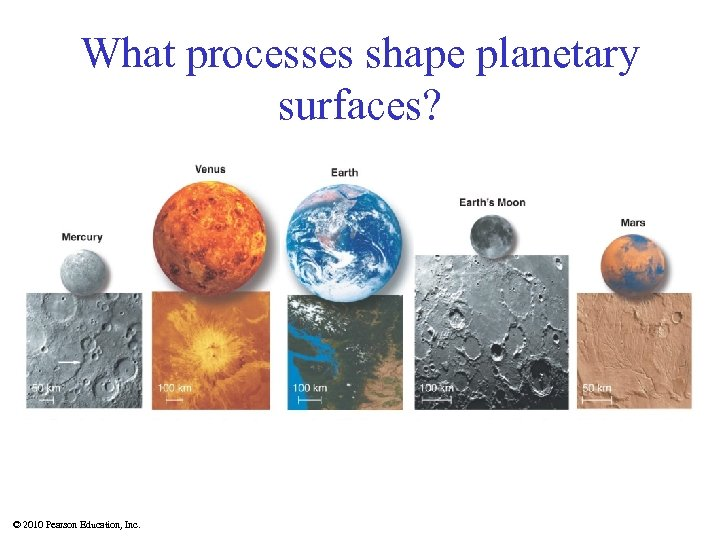 What processes shape planetary surfaces? © 2010 Pearson Education, Inc.