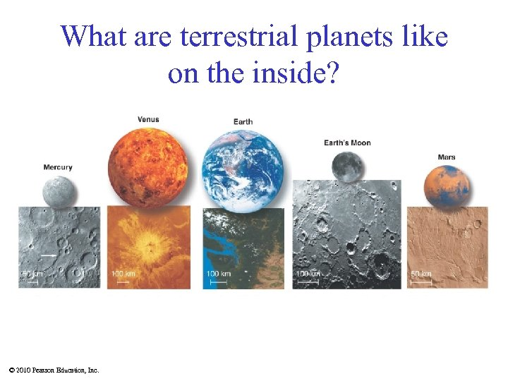 What are terrestrial planets like on the inside? © 2010 Pearson Education, Inc.