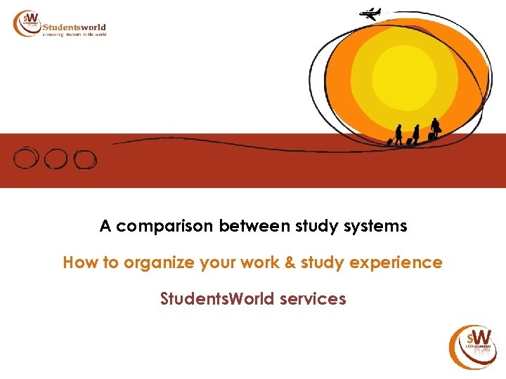 A comparison between study systems How to organize your work & study experience Students.