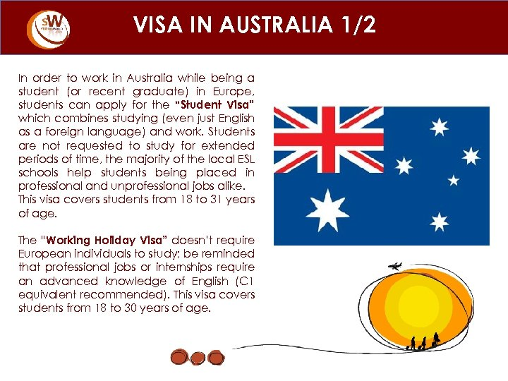 VISA IN AUSTRALIA 1/2 In order to work in Australia while being a student