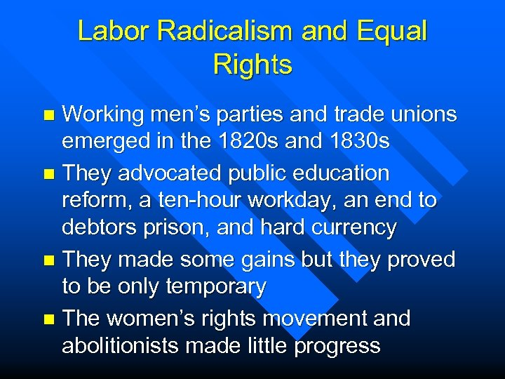 leading america to a democratic direction in the 1820s and 1830s 10112009 was the new family a progressive reflection of american democratic ideals or a restriction on them 4 why did america  the 1820s and 1830s came.